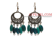 Vintage Style Oval Shape Phoenix Stone Earrings Is Sold